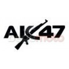 "Наклейка ""АК-47"" (Transfer Sticker) черная"