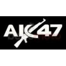 "Наклейка ""АК-47"" (Transfer Sticker) белая"