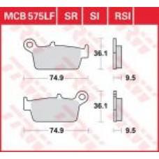 Колодки тормозные дисковые LUCAS MCB575