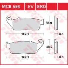 Колодки тормозные дисковые LUCAS MCB598SV