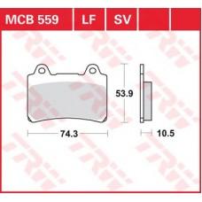 Колодки тормозные дисковые LUCAS MCB559