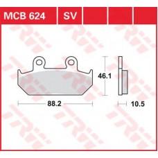 Колодки тормозные дисковые LUCAS MCB624