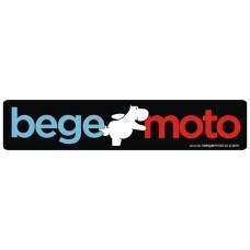 """Наклейка """"Begemoto"""" большая черная"""