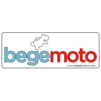 """Наклейка """"Begemoto"""" маленькая белая"""