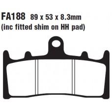 Колодки тормозные дисковые EBC FA188HH