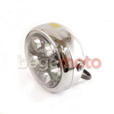 Фара круглая светодиодная (металл, многоцветная подсветка) УЦЕНКА