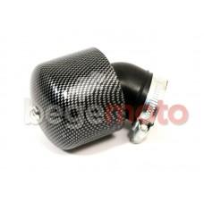 Фильтр нулевого сопротивления с колпаком - carbon 35мм 45°