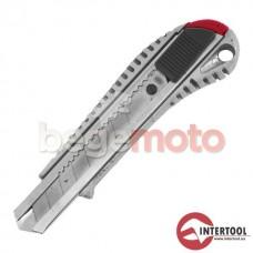 Нож прорезной с металлическим корпусом INTERTOOL