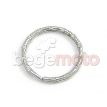 Кольцо для ключей рифленое, хром