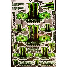 Набор наклеек Monster Eyes (А3)