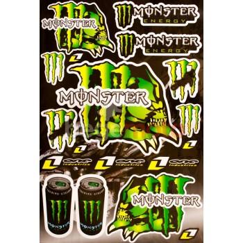 Набор наклеек Monster One (А3)