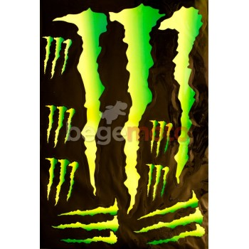 Набор наклеек Monster Когти (А3)
