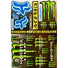 Набор наклеек Fox Monster (А3)