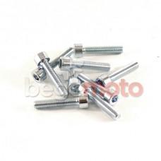 Комплект стальных болтов крышки вариатора GY6-50