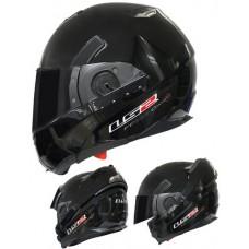 Шлем LS2 FF393  Solid модуляр/полулицевик черный матовый
