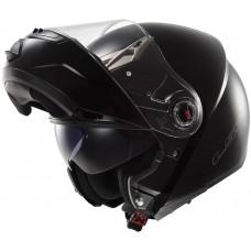 Шлем LS2 FF370 Ride Solid модуляр (с очками) черный глянец