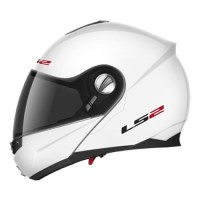 Шлем LS2 FF386  Ride Solid модуляр (с очками) белый глянцевый