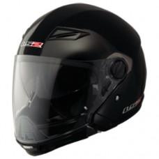 Шлем LS2 OF569-Modular Scape Solid полуинтеграл (с очками) черный матовый