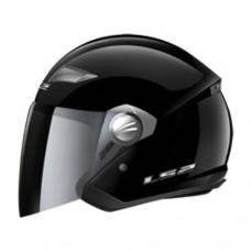 Шлем LS2 OF569 Track Solid полуинтеграл (с очками) черный глянцевый