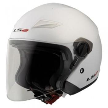 Шлем LS2 OF569 Track Solid полуинтеграл (с очками) белый глянцевый