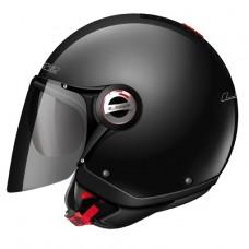 Шлем LS2 OF577 Twin Solid полуинтеграл черный глянцевый