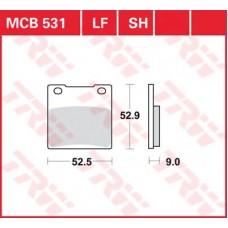 Колодки тормозные дисковые LUCAS MCB531