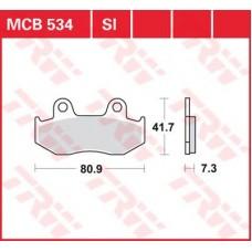 Колодки тормозные дисковые LUCAS MCB534