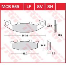 Колодки тормозные дисковые LUCAS MCB569