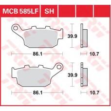 Колодки тормозные дисковые LUCAS MCB585