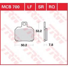 Колодки тормозные дисковые LUCAS MCB700