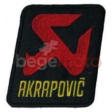 """Термонашивка """"Akrapovic"""""""