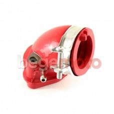Патрубок карбюратора впускной GY6 125-150cc силиконовый (красный)