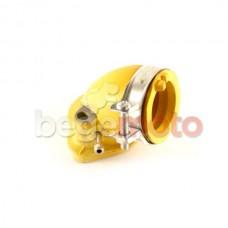 Патрубок карбюратора впускной GY6 125-150cc силиконовый (желтый)