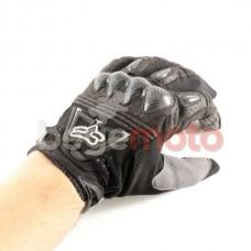 """Перчатки """"FOX Bomber"""" черные (кожа/текстиль)"""