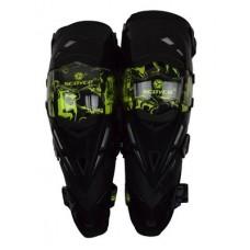 Наколенники (защита колена) Scoyco K12 Black/Green (+чехол)