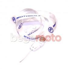 Шнур / шнурок на шею MOTOROLLA (белый)