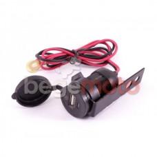 USB розетка навесная с крышкой